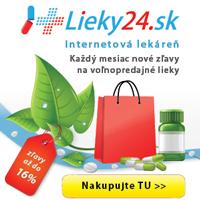 Lieky24.sk – www.lieky24.sk – internetová lekáreň – zľavy až do 16% - každý mesiac nové zľavy na voľnopredajné lieky – nakupujte tu